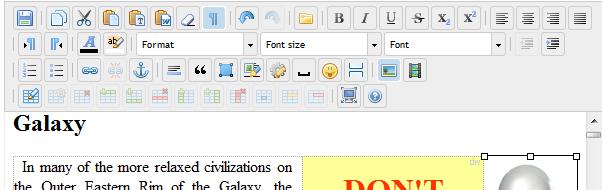 elRTE jquery wysiwyg html editor