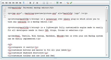 MarlItUp jquery wysiwyg html editor