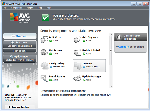 AVG Anti-Virus 2011 Free Edition